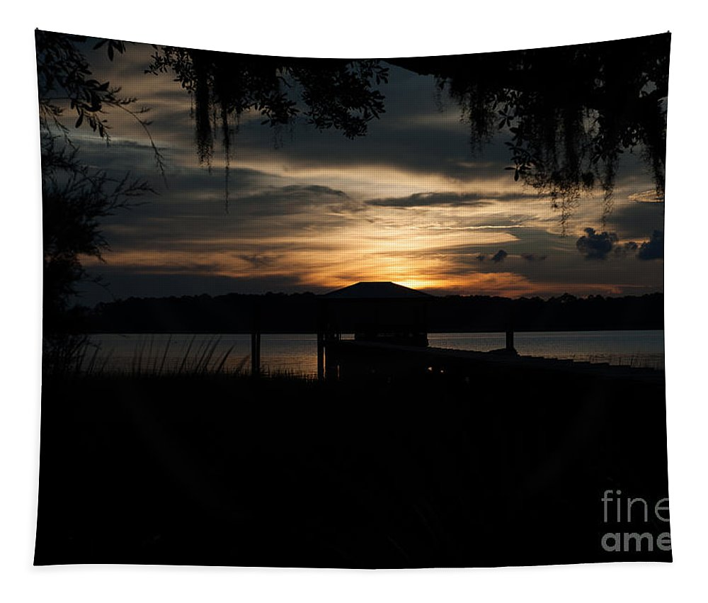 Sunset Tapestry featuring the photograph Fire Light Sunset by Dale Powell