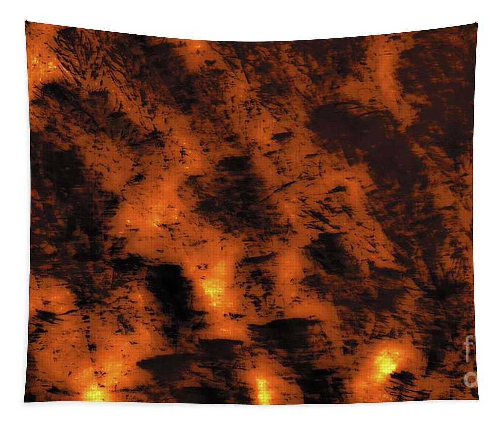 Digital Abstract Tapestry featuring the digital art Fire On The Mountain by Tim Richards