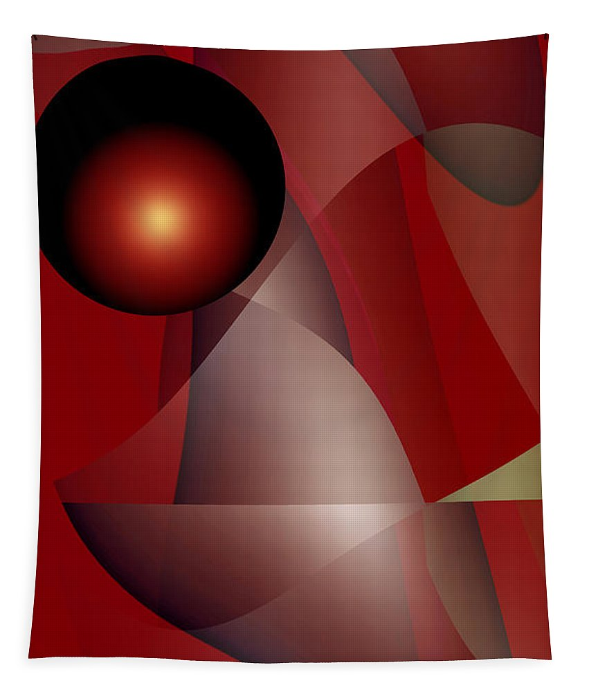 ruth Palmer Tapestry featuring the digital art Fireball by Ruth Palmer