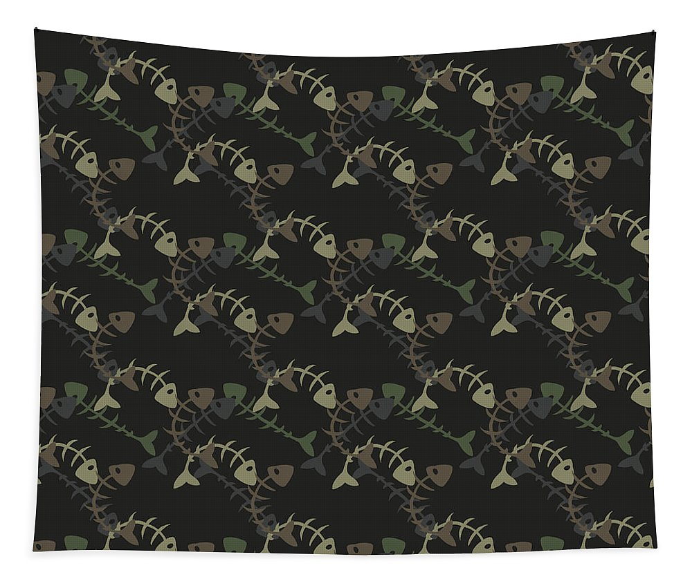 Dolphins Tapestry featuring the digital art Fish Pattern by Mark Ashkenazi
