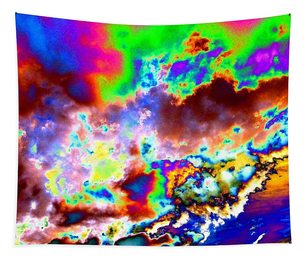 Flamboyant Cloudscape Tapestry featuring the digital art Flamboyant Cloudscape by Will Borden
