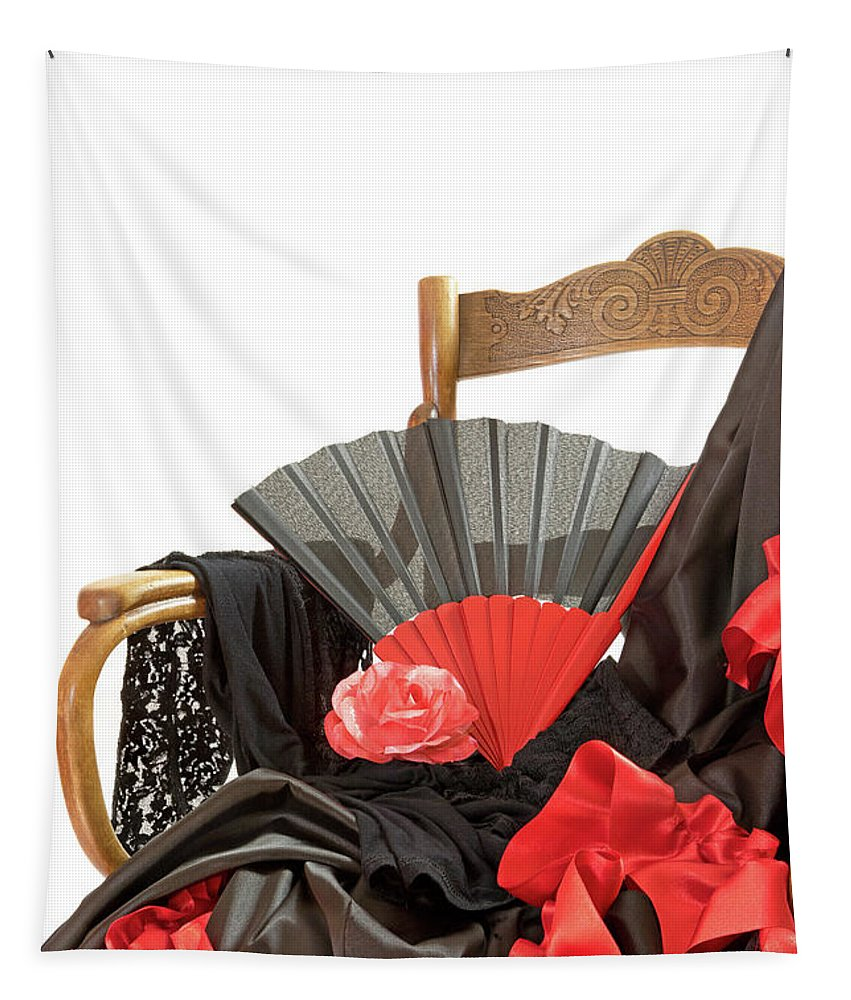 Spanish Tapestry featuring the photograph Flamenco Clothing by Jaroslav Frank