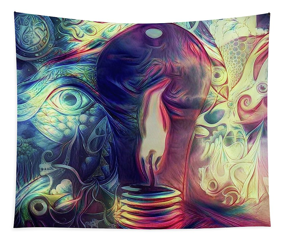Art Tapestry featuring the digital art Flaming Ideas by Bruce Rolff