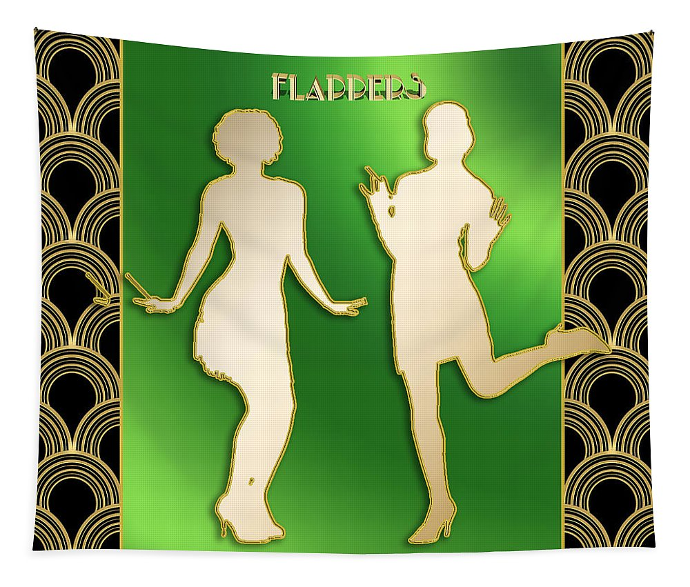 Flappers Tapestry featuring the digital art Flappers 3 by Chuck Staley