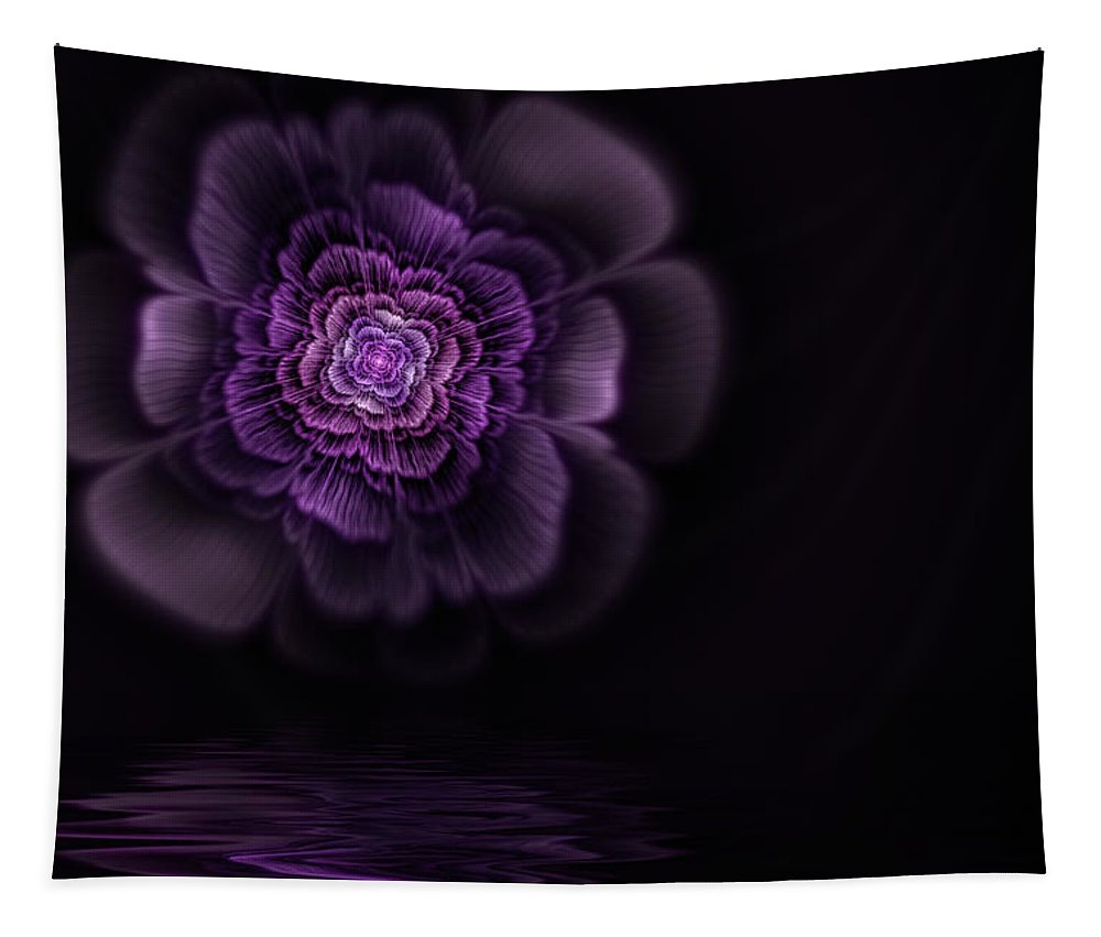 Flame Fractal Tapestry featuring the digital art Fleur by John Edwards