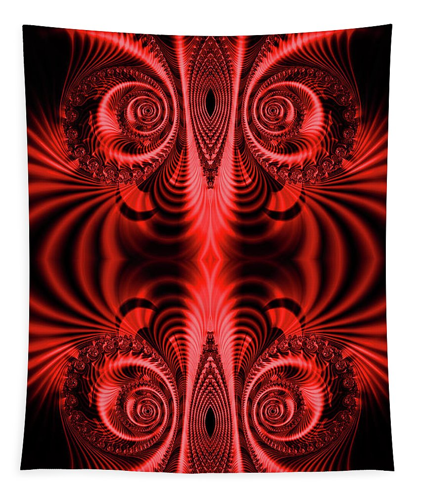 Fractal Tapestry featuring the digital art Flight Of Fancy Red by Steve Purnell