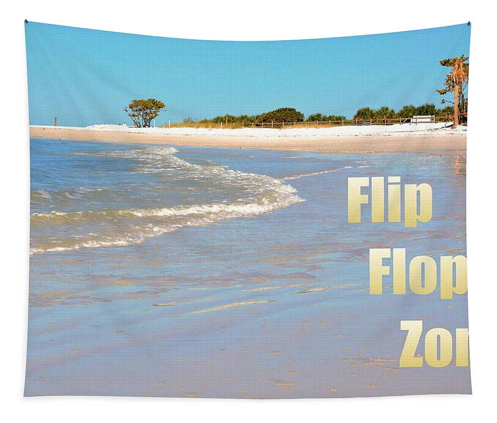 Flip Flop Zone Tapestry featuring the photograph Flip Flop Zone by Lisa Wooten