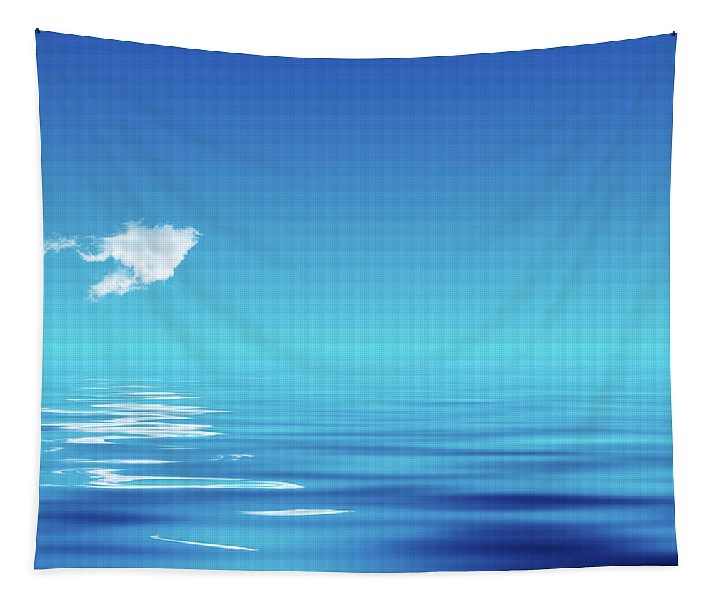 Cloud Tapestry featuring the photograph Floating Cloud by Wim Lanclus
