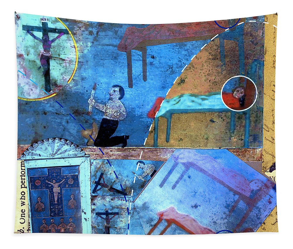Floating Tapestry featuring the painting Floating by Dominic Piperata