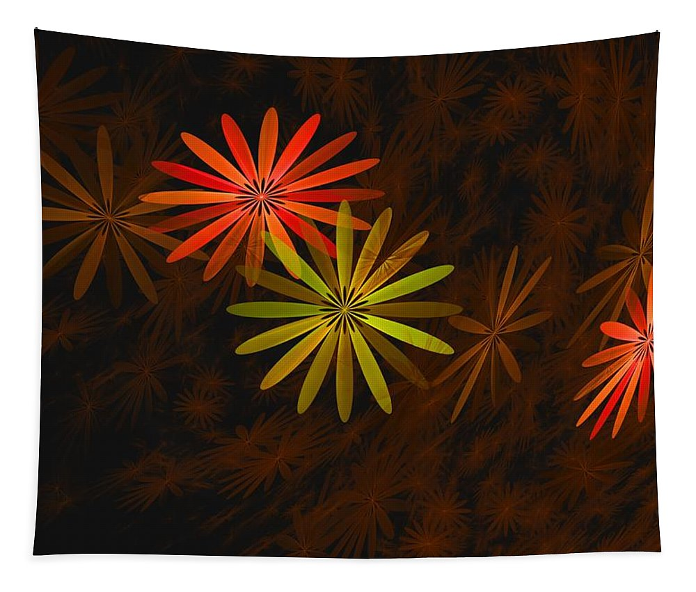Digital Photography Tapestry featuring the digital art Floating Floral-008 by David Lane