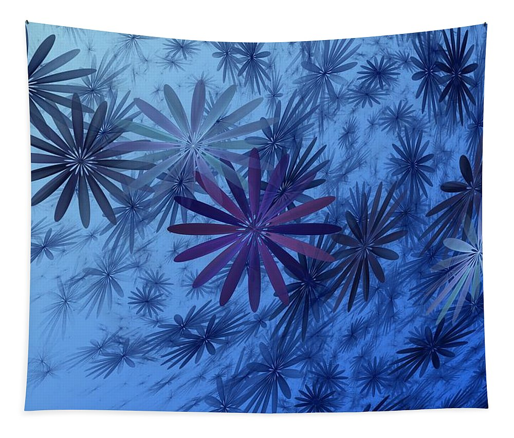 Digital Photography Tapestry featuring the digital art Floating Floral-010 by David Lane