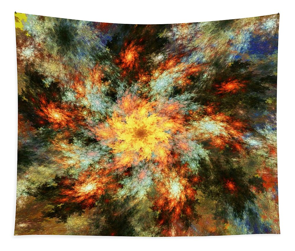 Fine Art Tapestry featuring the digital art Floral Fantasy 072010 by David Lane