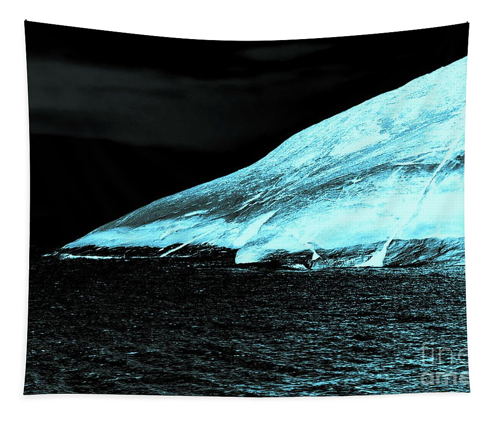 Digital Altered Photo Tapestry featuring the photograph Fluorescent Rock by Tim Richards