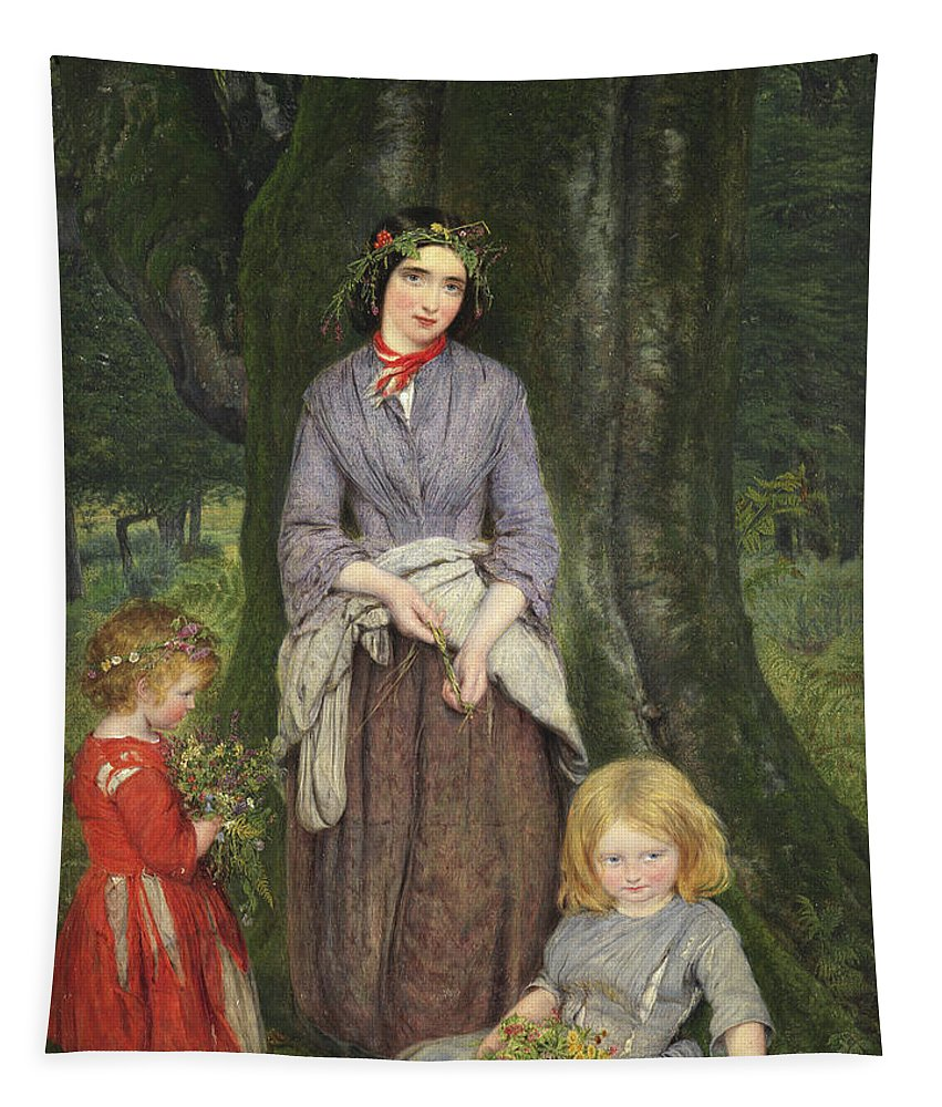 Flower Girl Tapestry featuring the painting Flower Girl by William Gale