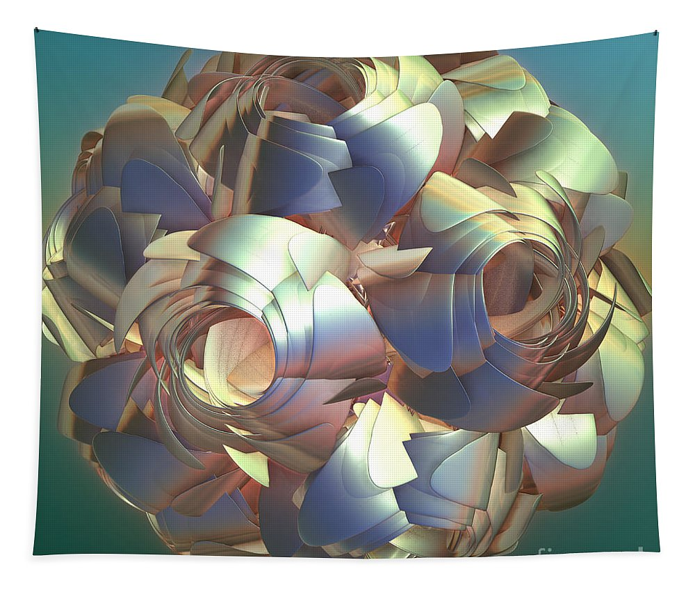 Digital Tapestry featuring the digital art Flower Globe by Deborah Benoit