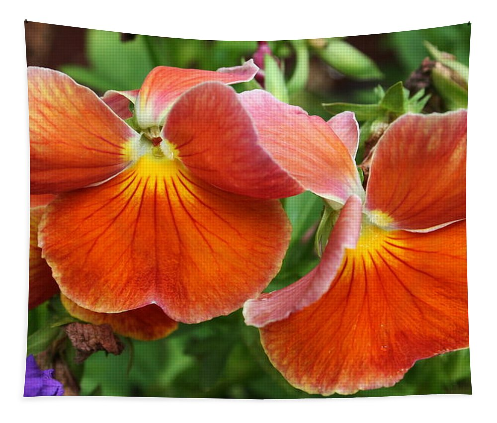 Flowers Tapestry featuring the photograph Flower Lips by Linda Sannuti