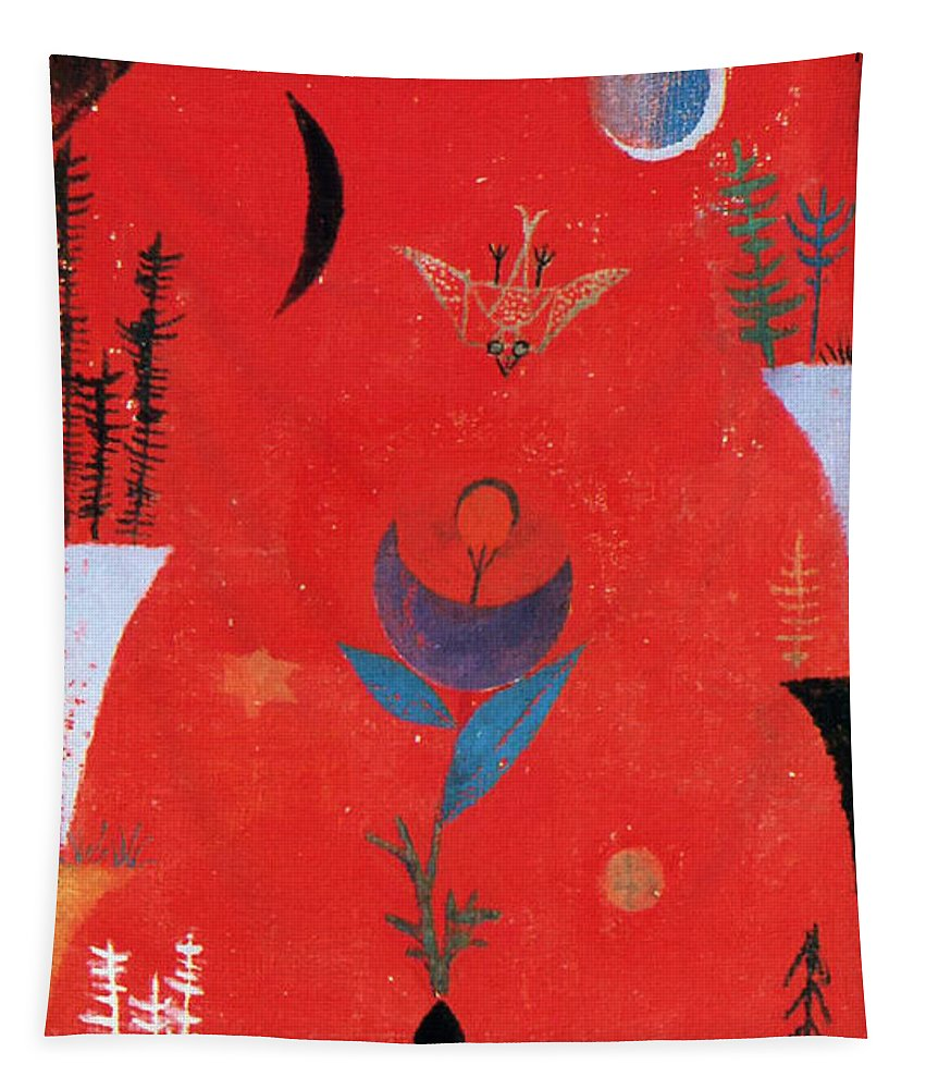 Paul Klee Tapestry featuring the painting Flower Myth by Paul Klee