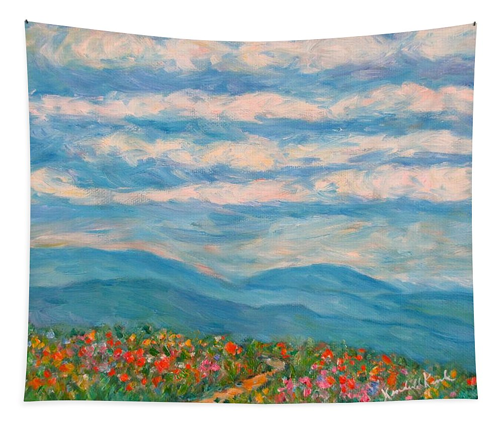 Blue Ridge Paintings Tapestry featuring the painting Flower Path To The Blue Ridge by Kendall Kessler