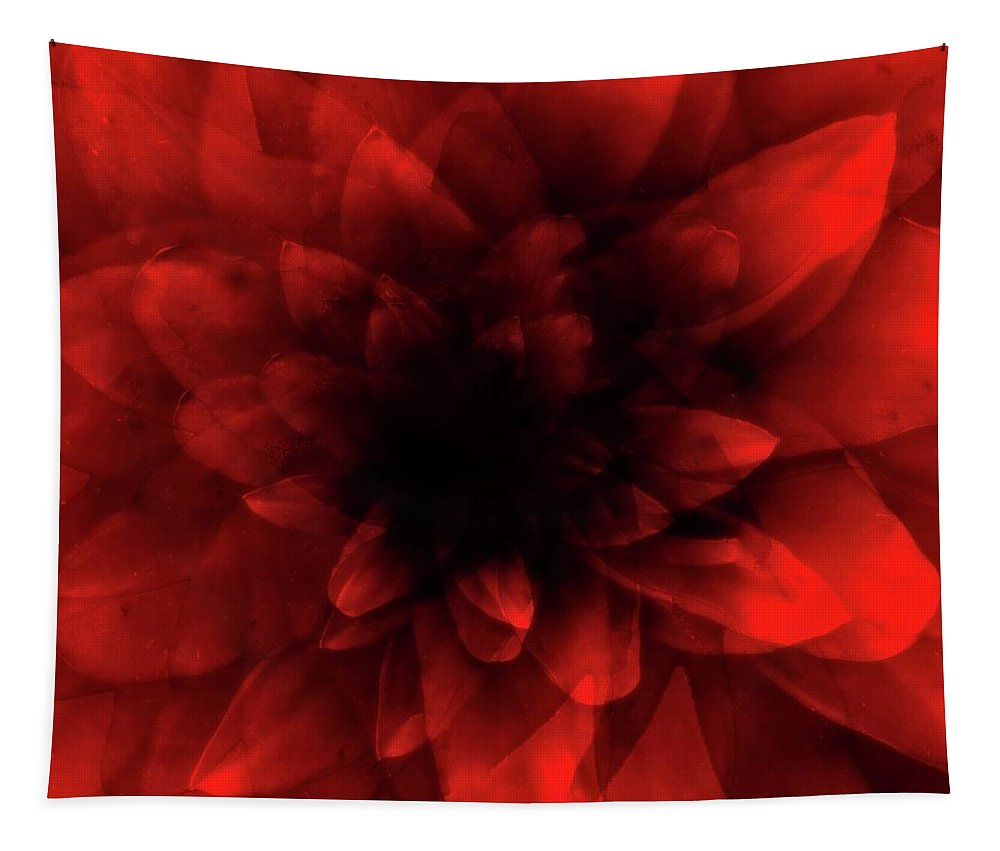 Red Tapestry featuring the digital art Flower Red Shade by Johan Lilja
