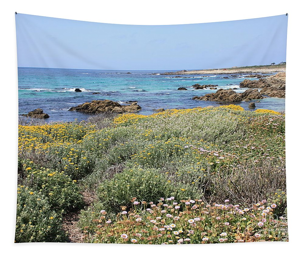 Tapestry featuring the photograph Flowers And Surf by Carol Groenen