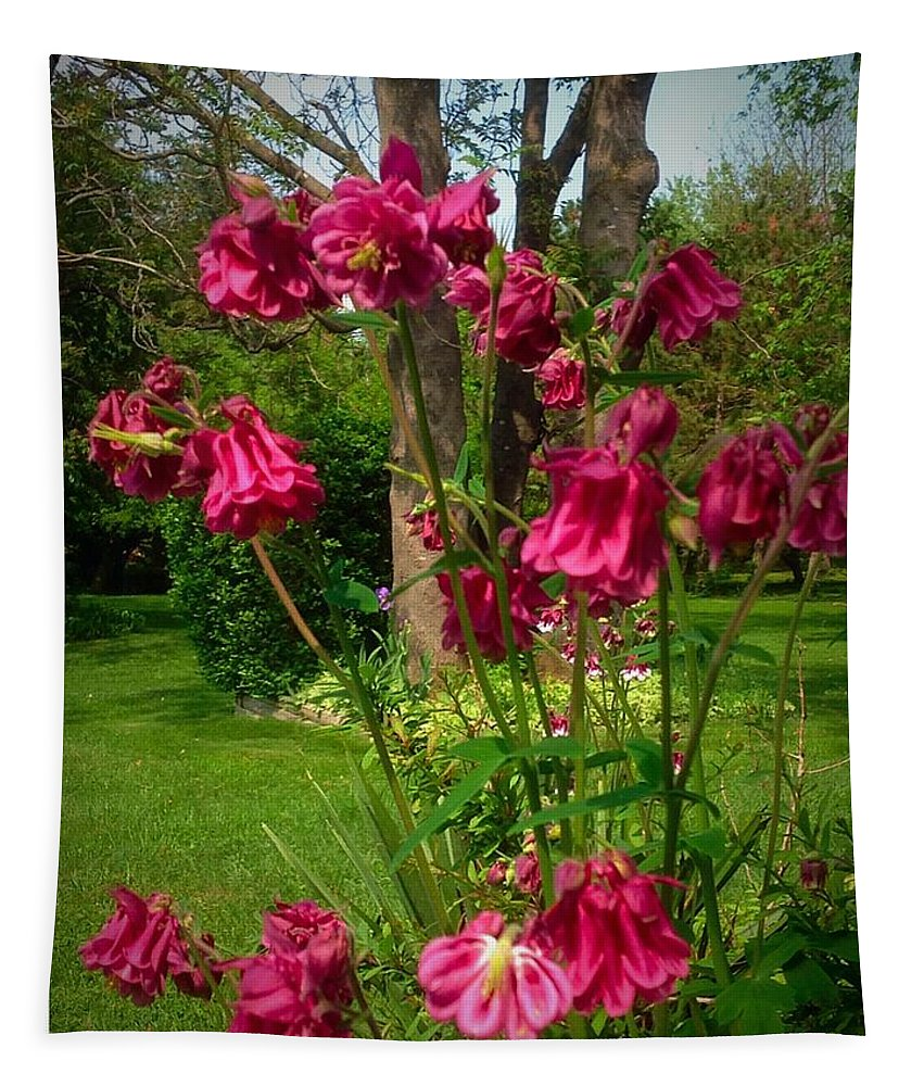 Photography Tapestry featuring the photograph Flowers In Memories by Debra Lynch