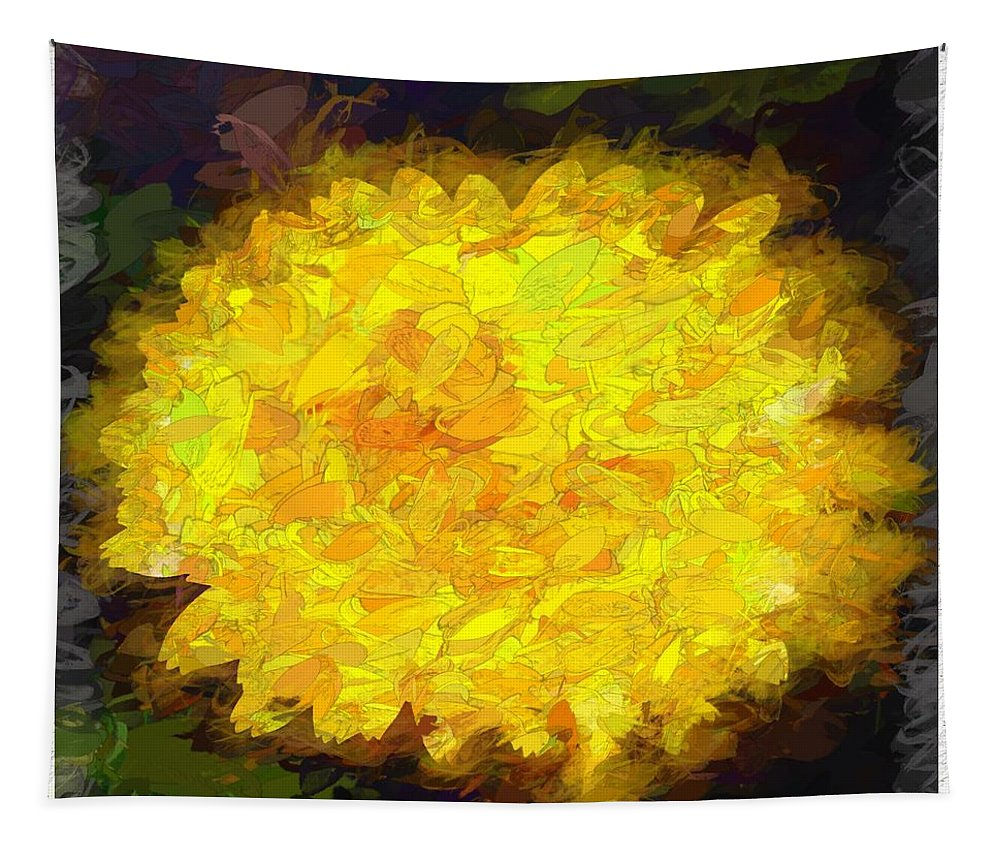 Flower Tapestry featuring the digital art Flowery Acceptance In Abstract by Debra Lynch