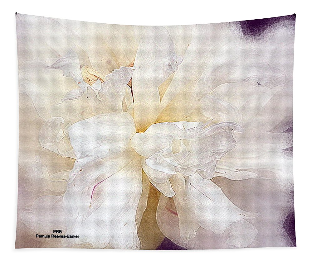 Flower Tapestry featuring the mixed media Flowing Floral by Pamula Reeves-Barker