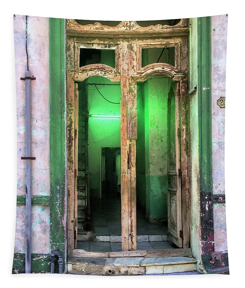 Doorway Tapestry featuring the photograph Fluorescent by Dominic Piperata