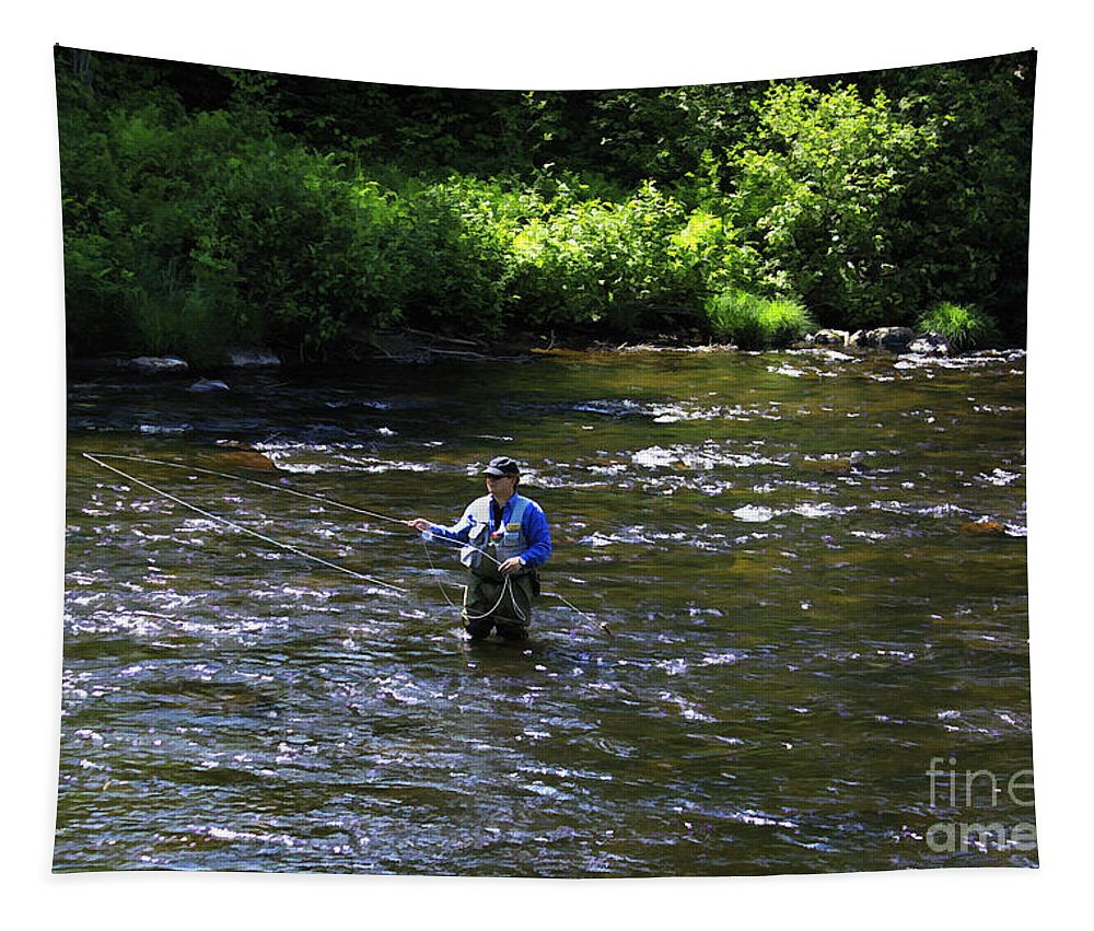 River Tapestry featuring the photograph Fly Fishing In New York by Deborah Benoit