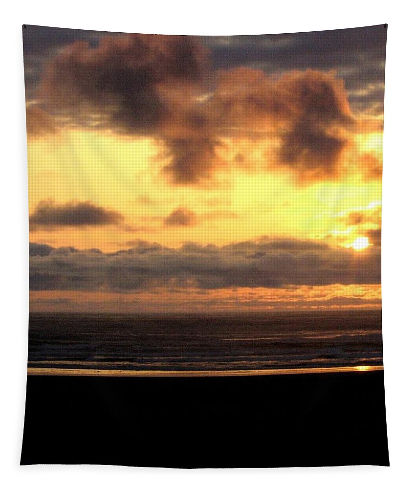 Sunset Tapestry featuring the photograph Flying Dog Sunset by Will Borden