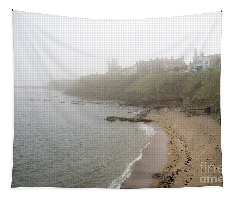 Fog On The Coast Tapestry featuring the photograph Foggy March In St. Andrews by Elena Perelman