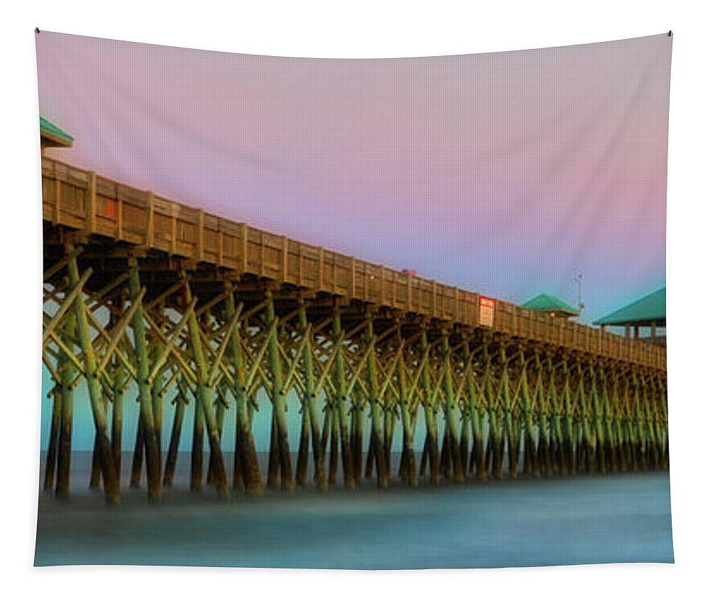 Architecture Tapestry featuring the photograph Folly Pier 1 by Jerry Fornarotto