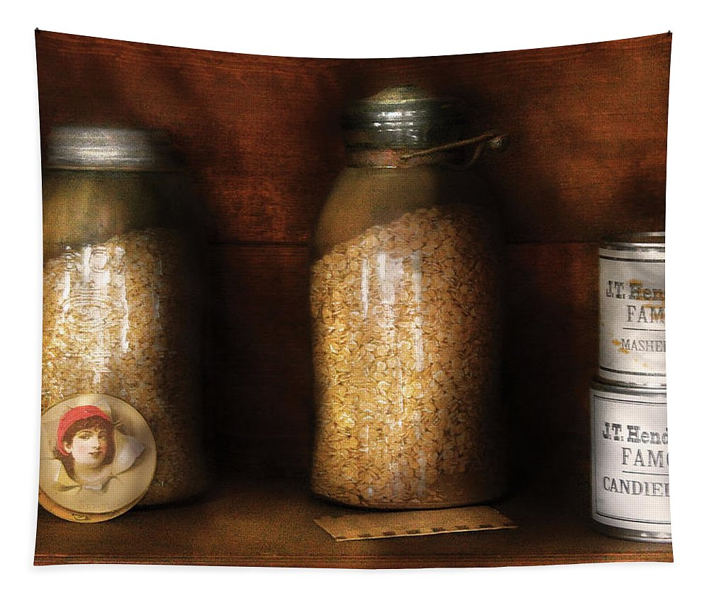 Savad Tapestry featuring the photograph Food - Corn Yams And Oatmeal by Mike Savad