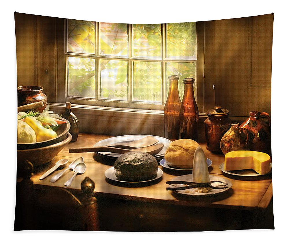 Savad Tapestry featuring the photograph Food - Ready For Guests by Mike Savad