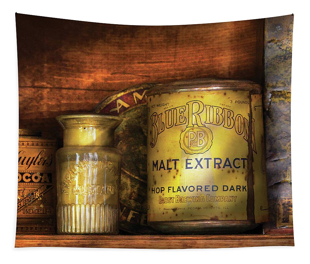 Malt Extract Tapestry featuring the photograph Food - Blue Ribbon Malt Extract by Mike Savad