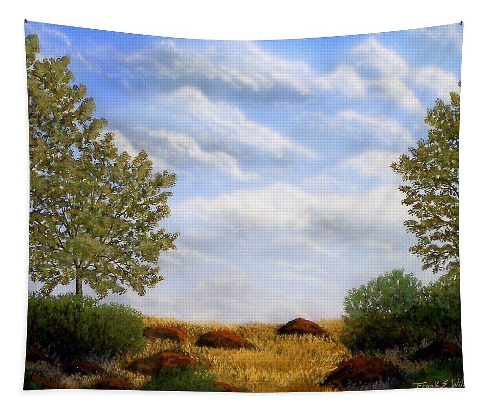 Landscape Tapestry featuring the painting Foothills Afternoon by Frank Wilson