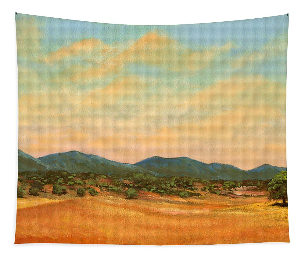 Landscape Tapestry featuring the painting Foothills by Frank Wilson