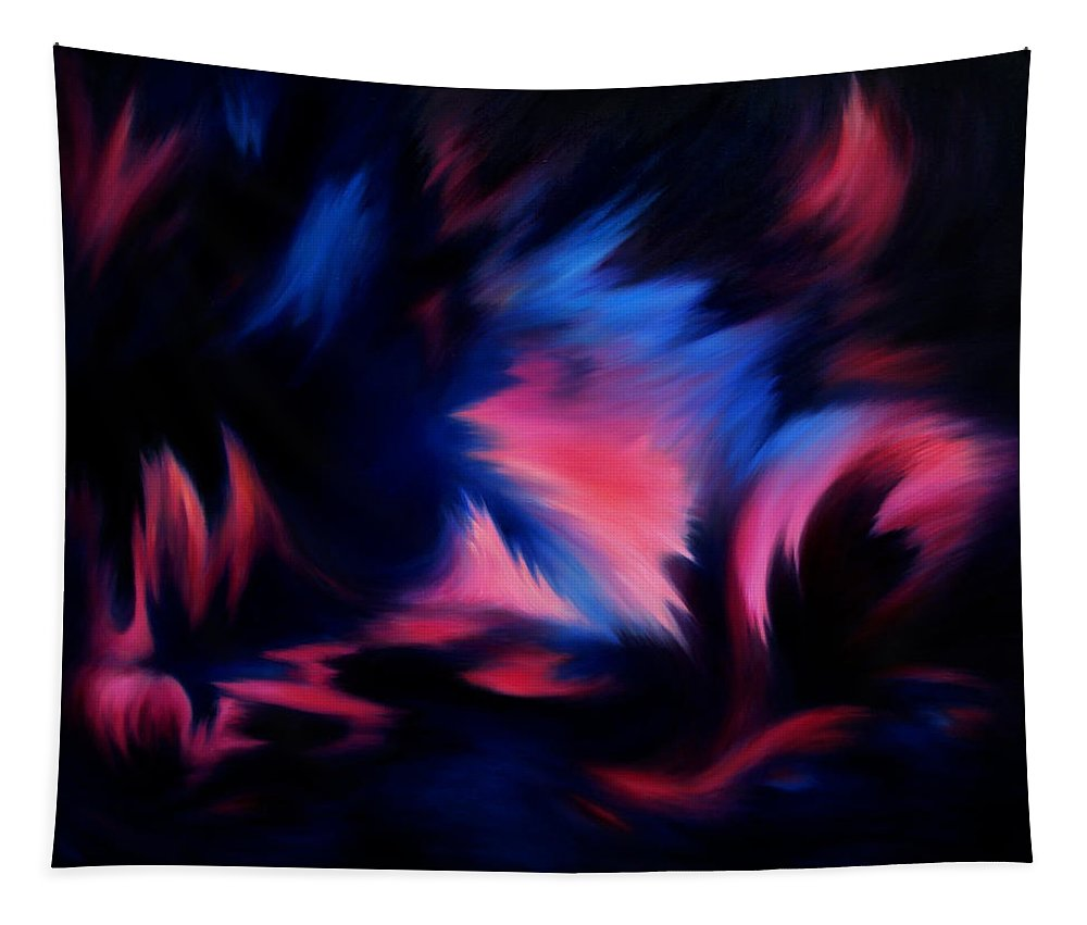 Abstract Tapestry featuring the painting Forbidden Words by William Russell Nowicki