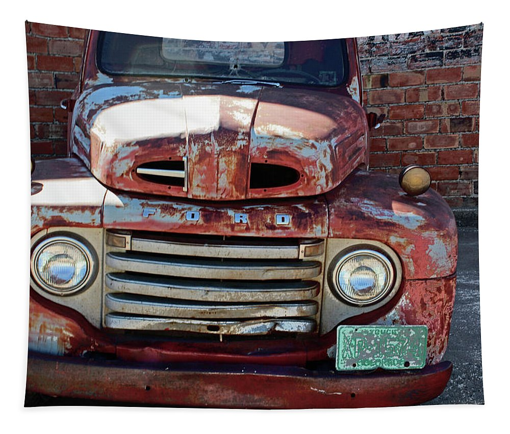 Ford Tapestry featuring the photograph Ford In Goodland by Lynn Sprowl