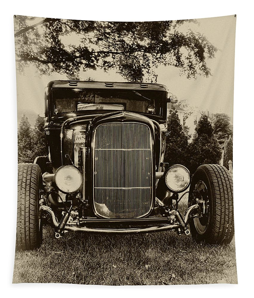 Ford Model A Tapestry featuring the photograph Ford Model A by Bill Cannon