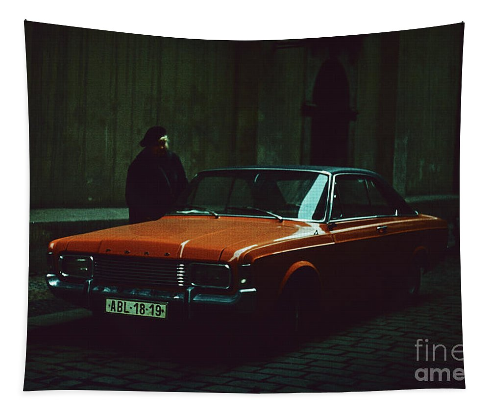 Ford Taunus Tapestry featuring the photograph Ford Taunus 20m Rs Coupe by Oleg Konin