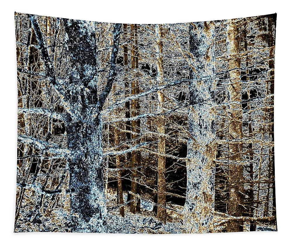 Forest Tapestry featuring the digital art Forest Calm by Will Borden
