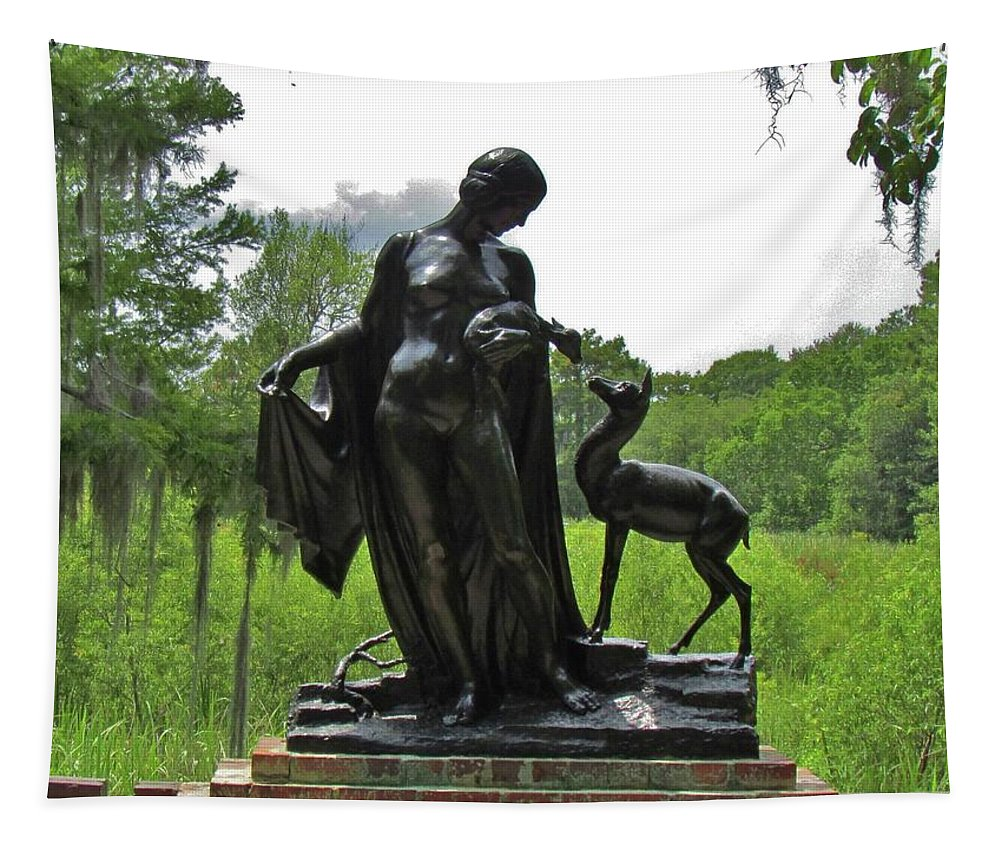 Sculpture Tapestry featuring the photograph Forest Idyl by Cynthia Guinn