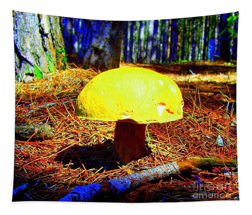 Mushroom Tapestry featuring the photograph Forest Life by Jolanta Anna Karolska