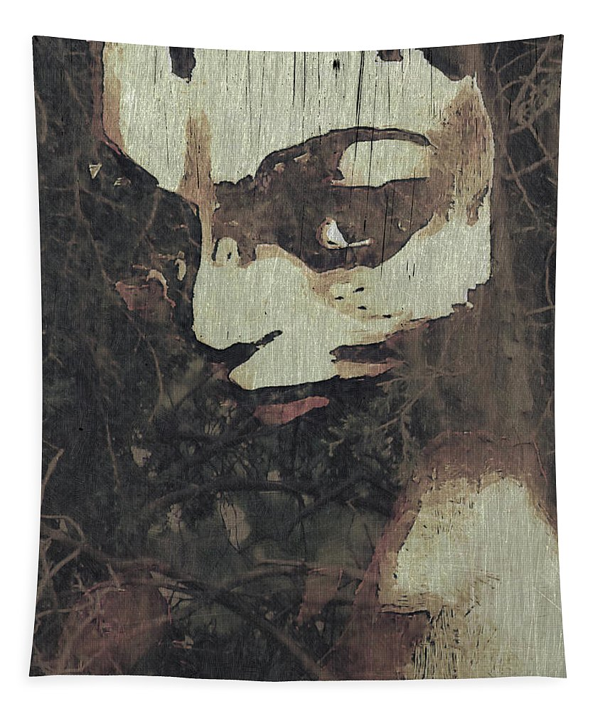 Tapestry featuring the mixed media Forest Orphan by Barry King