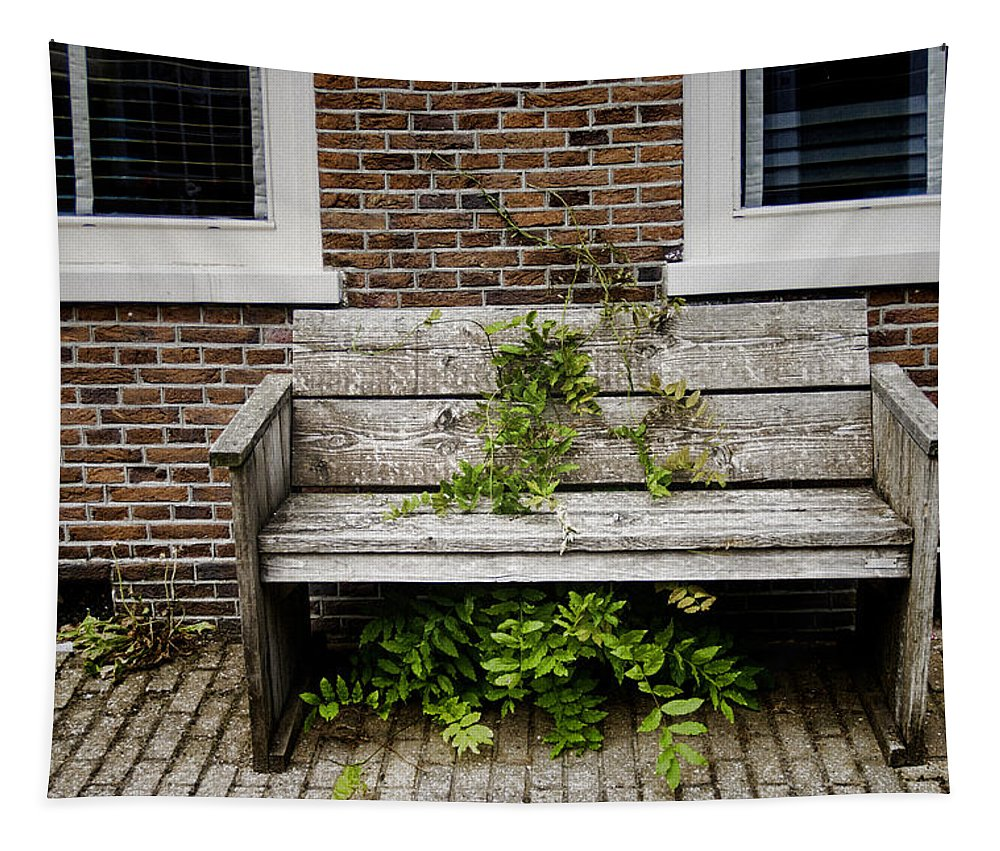 Forgotten Bench Tapestry featuring the photograph Forgotten Bench by Phyllis Taylor