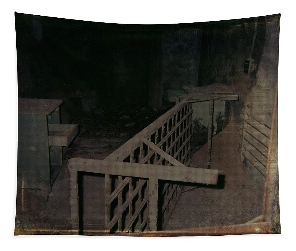 Abandoned Building Tapestry featuring the photograph Forgotten Room by Gothicrow Images