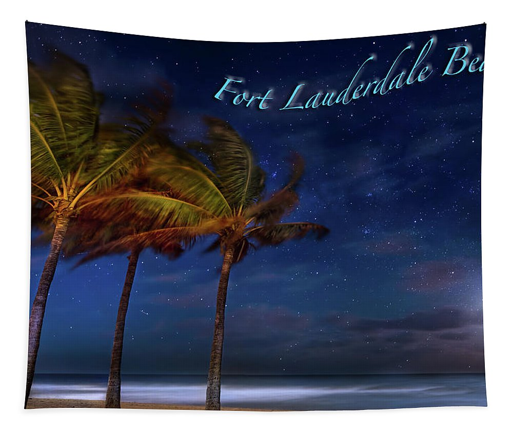 Beach Tapestry featuring the photograph Fort Lauderdale Beach Greeting by Mark Andrew Thomas
