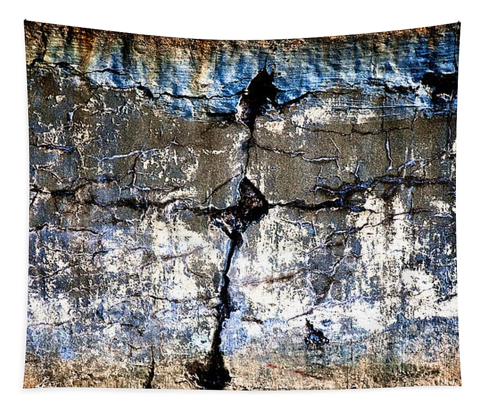 Industrial Tapestry featuring the photograph Foundation Two by Bob Orsillo