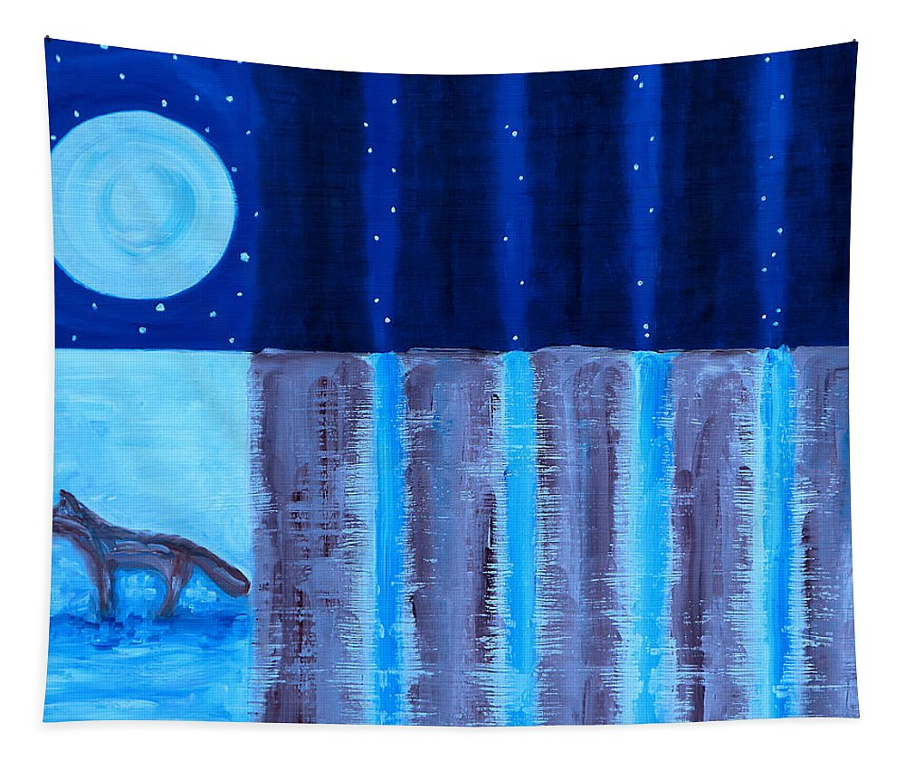 Landscapes Tapestry featuring the painting FOX by Patrick J Murphy